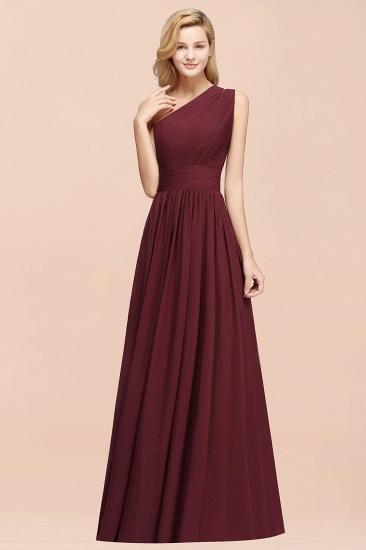 Stylish One-shoulder Sleeveless Long Junior Bridesmaid Dresses Cheap_53