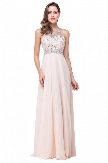 BMbridal A-line Jewel Chiffon Prom Dress with Beading_2