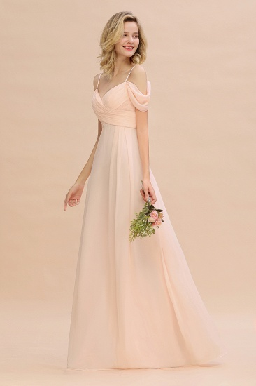 Off-the-Shoulder Sweetheart Ruched Long Bridesmaid Dress Online_5