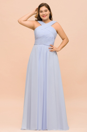 Plus Size Affordable Lavender Ruffle Bridesmaid Dress