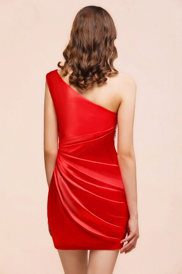 BMbridal Chic One Shoulder Beading Ruffle Red Bridesmaid Dress with Detachable Skirt_8