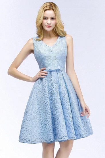 BMbridal Lovely A-line Lace Knee-Length Homecoming Dress