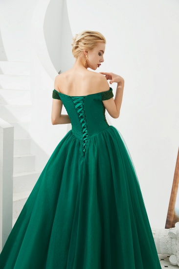 BMbridal Princess Off-the-Shoulder Prom Dress Beadings Sweetheart Ball Gown Evening Gowns_11