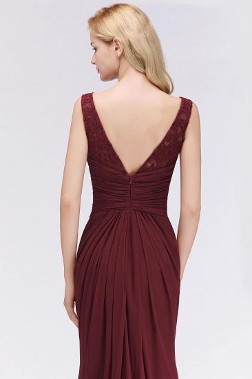 BMbridal Mermaid Burgundy Chiffon Ruffles Evening Dress_7
