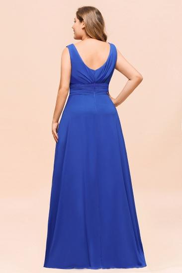 Elegant V-Neck Sleeveless Chiffon Plus Size Bridesmaid Dress_3