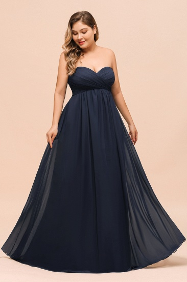 BMbridal Affordable Strapless Sweetheart Long Bridesmaid Dress with Ruffle_8