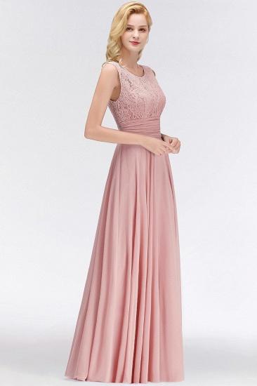 Elegant Lace Sleeveless Chiffon Long Bridesmaid Dress_7