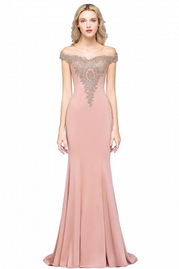 BMbridal Elegant Off-the-Shoulder Mermaid Prom Dress Long With Lace Appliques_3