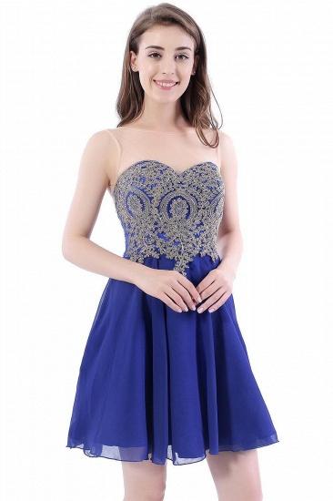 BMbridal Lace Chiffon Applique Short Prom Dress_1