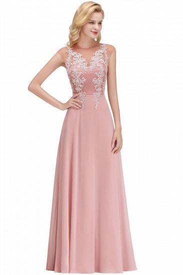 BMbridal A-line Jewel Sleeveless Chiffon Tulle Lace Bridesmaid Dress_1