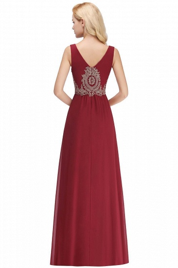 BMbridal A-Line Chiffon Lace Ruffles Evening Dress_3
