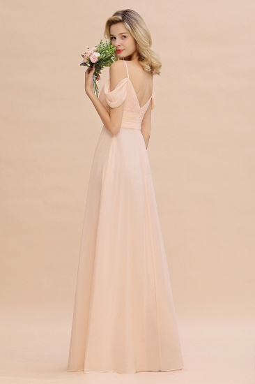 Off-the-Shoulder Sweetheart Ruched Long Bridesmaid Dress Online_8
