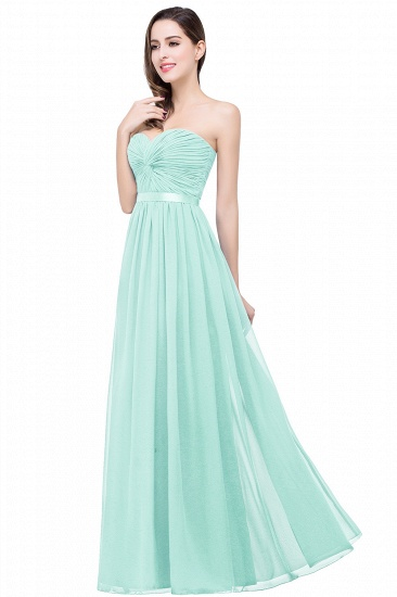 BMbridal Affordable Chiffon Strapless Navy Bridesmaid Dress with Ruffle In Stock_4