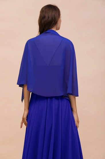 Royal Blue Chiffon Special Occasions Wraps_9