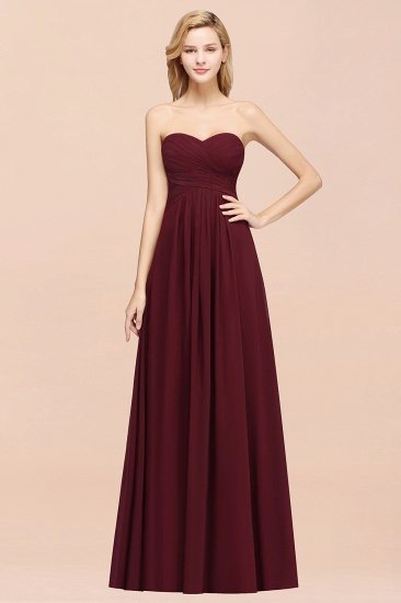 Vintage Sweetheart Long Grape Affordable Bridesmaid Dresses Online_56