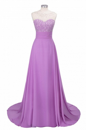 BMbridal Chic Jewel Chiffon Tulle Party Dress with Sequins_3