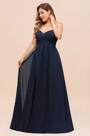BMbridal Affordable Strapless Sweetheart Long Bridesmaid Dress with Ruffle_5