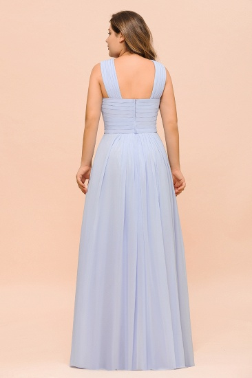 Plus Size Affordable Lavender Chiffon Bridesmaid Dresses with Ruffle_3