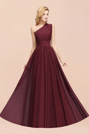 BMbridal Stylish One-shoulder Sleeveless Long Junior Bridesmaid Dresses Affordable_54