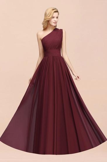 Stylish One-shoulder Sleeveless Long Junior Bridesmaid Dresses Cheap_54