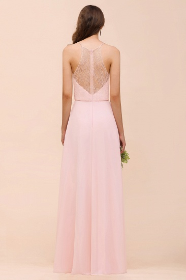 BMbridal Elegant Lace Spaghetti Straps Affordable Long Bridesmaid Dress_3