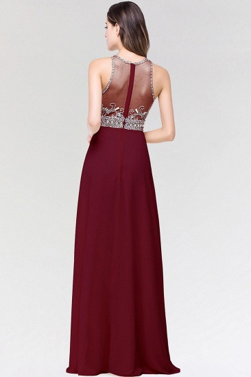 BMbridal A-line Jewel Chiffon Prom Dress with Beading_3