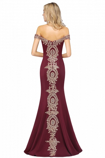 BMbridal Elegant Off-the-Shoulder Mermaid Prom Dress Long With Lace Appliques_39