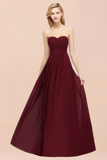 Vintage Sweetheart Long Grape Affordable Bridesmaid Dresses Online_53