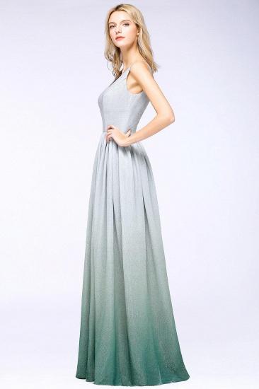 BMbridal A-line Ruffles V-Neck Long Evening Dress_2