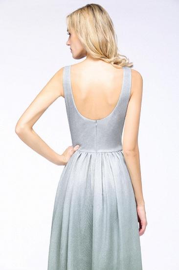 BMbridal A-line Ruffles V-Neck Long Evening Dress_5