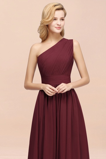 BMbridal Stylish One-shoulder Sleeveless Long Junior Bridesmaid Dresses Affordable_55