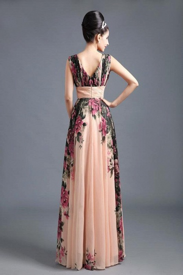 BMbridal A-Line Chiffon Printed Ruffles Evening Dress_2