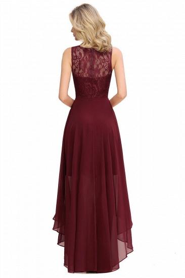 BMbridal A-line Hi-lo Chiffon Lace Bridesmaid Dress_4