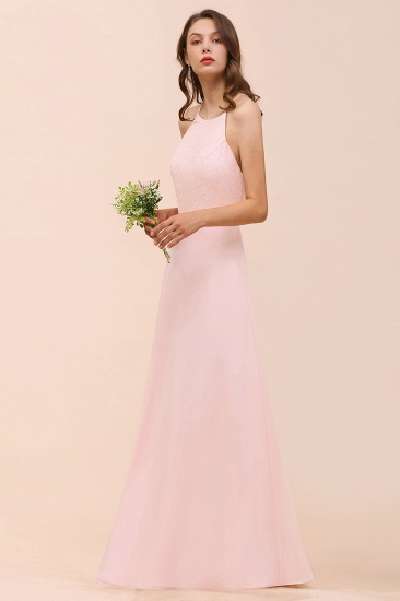 BMbridal Elegant Lace Spaghetti Straps Affordable Long Bridesmaid Dress_4