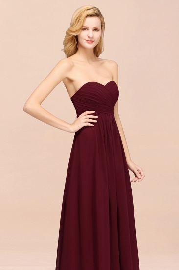 Vintage Sweetheart Long Grape Affordable Bridesmaid Dresses Online_59