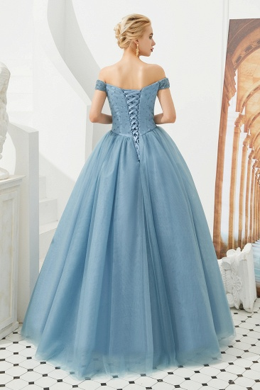 BMbridal Princess Off-the-Shoulder Prom Dress Beadings Sweetheart Ball Gown Evening Gowns_24