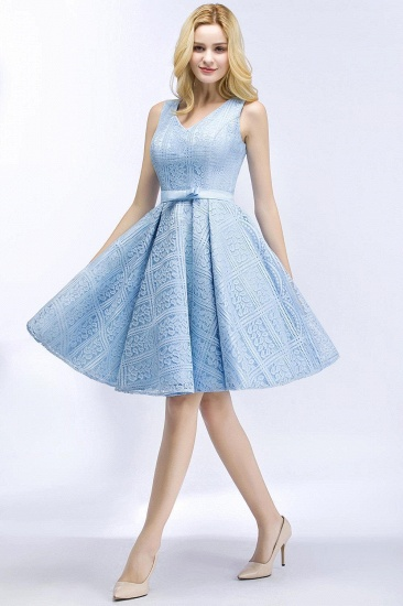 BMbridal Lovely A-line Lace Knee-Length Homecoming Dress_3