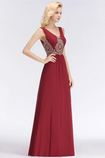 BMbridal A-Line Chiffon Lace Ruffles Evening Dress_4