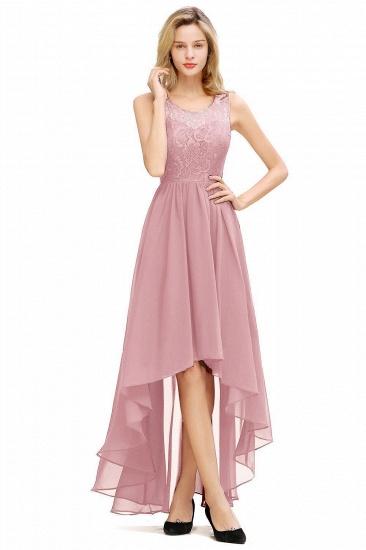 BMbridal A-line Hi-lo Chiffon Lace Bridesmaid Dress_5