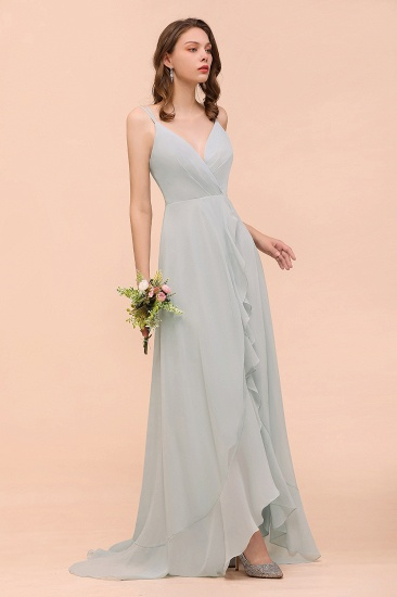 BMbridal Affordable V-Neck Ruffle Mist Chiffon Bridesmaid Dresses Affordable_4
