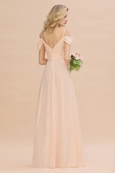 Off-the-Shoulder Sweetheart Ruched Long Bridesmaid Dress Online_3
