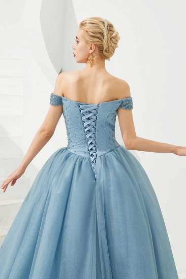 BMbridal Princess Off-the-Shoulder Prom Dress Beadings Sweetheart Ball Gown Evening Gowns_23