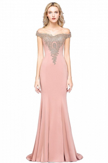 BMbridal Elegant Off-the-Shoulder Mermaid Prom Dress Long With Lace Appliques_18