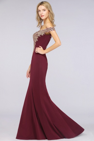 BMbridal Elegant Off-the-Shoulder Mermaid Prom Dress Long With Lace Appliques_37