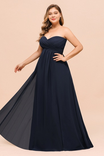BMbridal Affordable Strapless Sweetheart Long Bridesmaid Dress with Ruffle_7