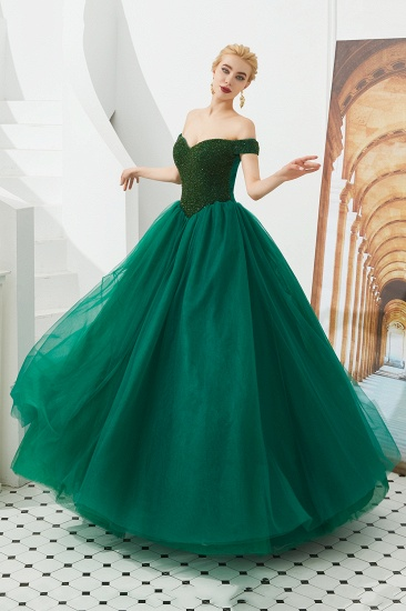 BMbridal Princess Off-the-Shoulder Prom Dress Beadings Sweetheart Ball Gown Evening Gowns_19