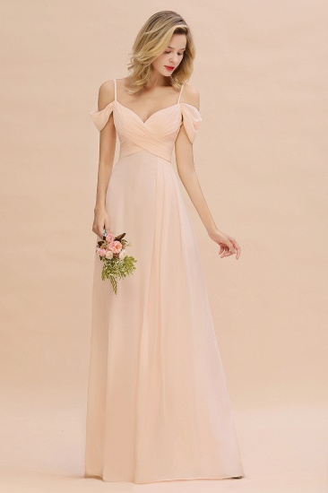 Off-the-Shoulder Sweetheart Ruched Long Bridesmaid Dress Online_6
