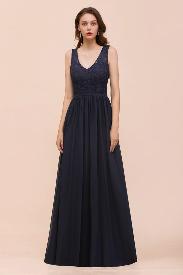 Affordable Lace V-Neck Hollowout Bridesmaid Dress