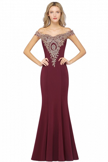 BMbridal Elegant Off-the-Shoulder Mermaid Prom Dress Long With Lace Appliques_2