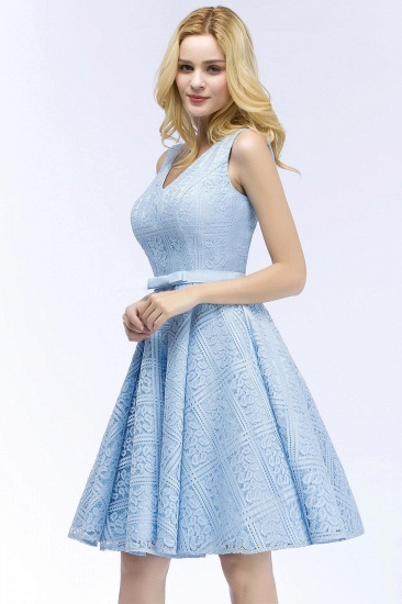 BMbridal Lovely A-line Lace Knee-Length Homecoming Dress_4
